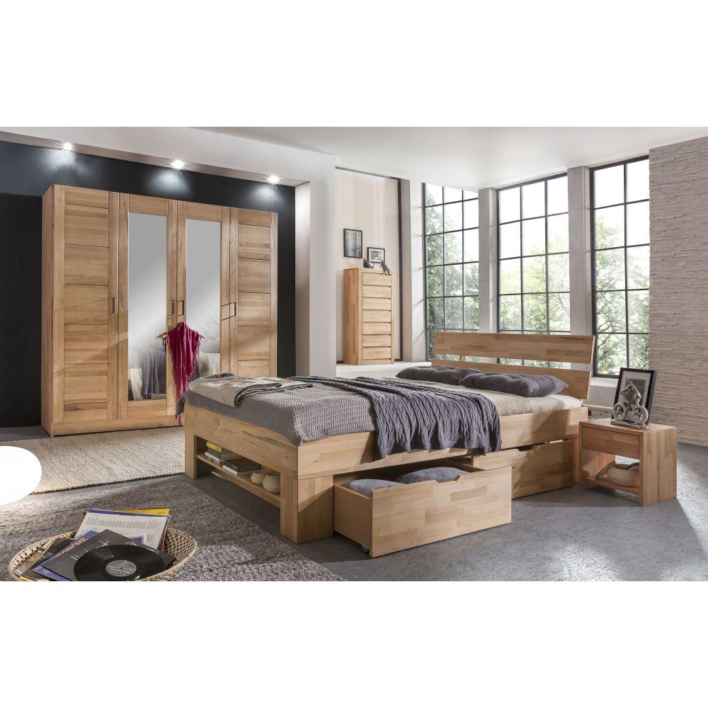 kleiderschrank tollow kernbuche massiv versch gr en mit. Black Bedroom Furniture Sets. Home Design Ideas