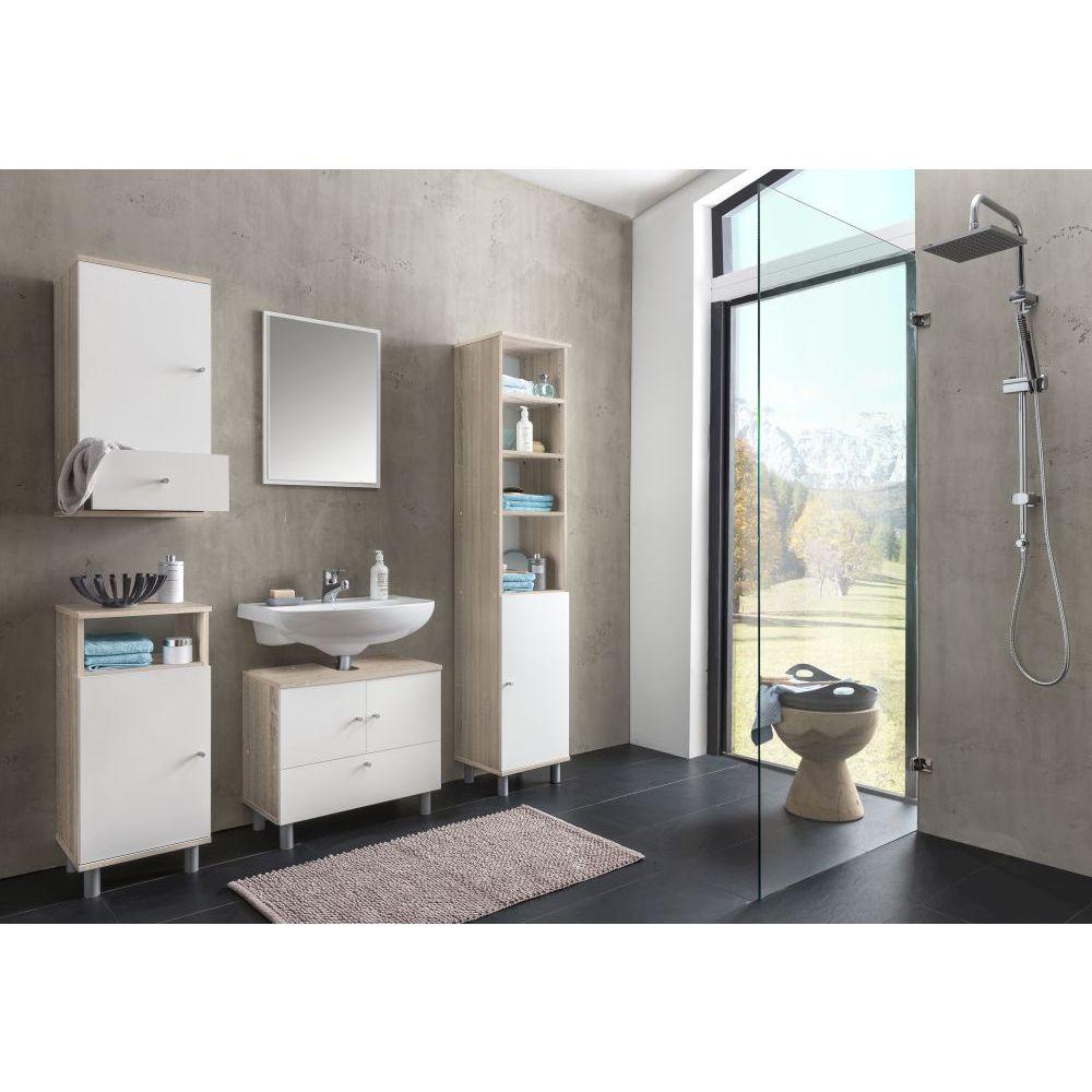 badezimmerschrank beistellschrank schrank weiss neu ovp ebay. Black Bedroom Furniture Sets. Home Design Ideas