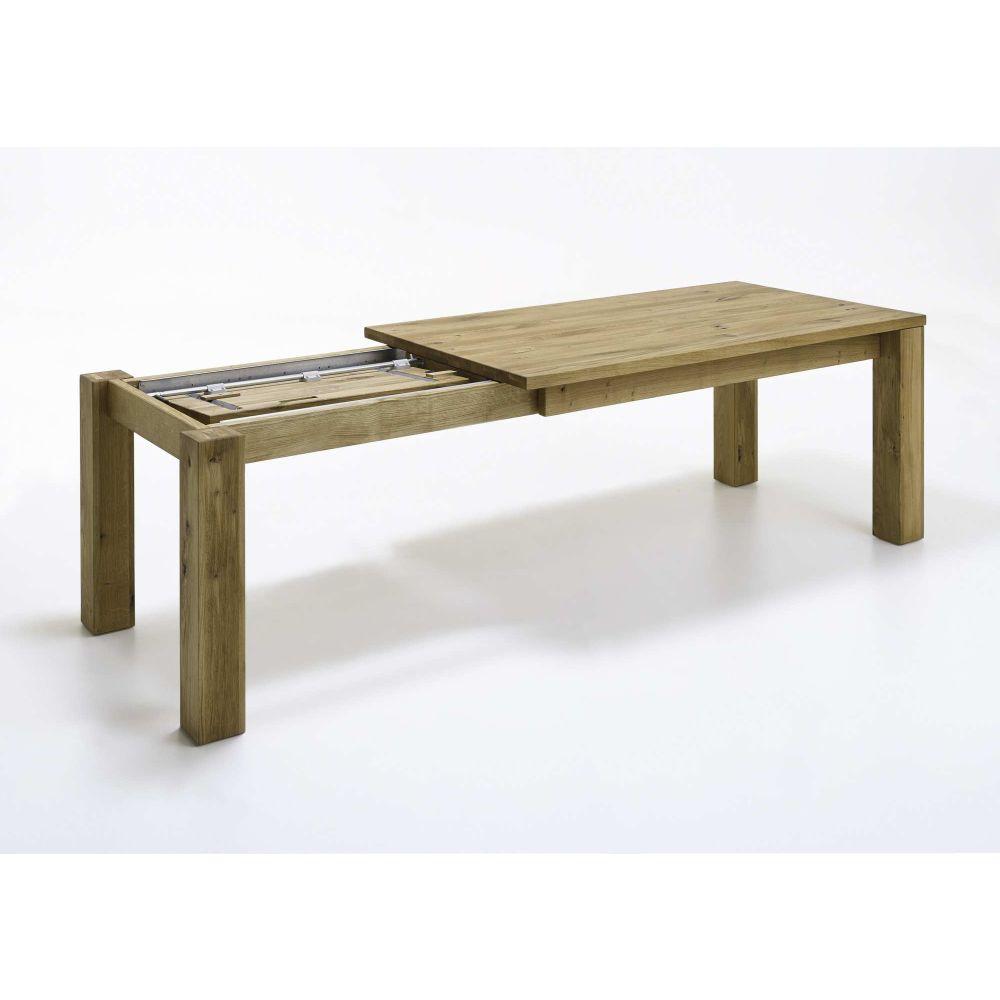 Esstisch mit gestellauszug 90x140 210cm wildeiche ge lt for Esstisch 90x140 ausziehbar