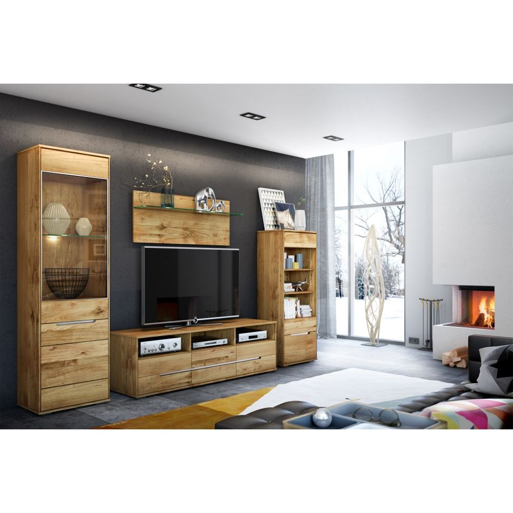 vitrine betty wildeiche massiv ge lt 203x102cm neu ovp ebay. Black Bedroom Furniture Sets. Home Design Ideas