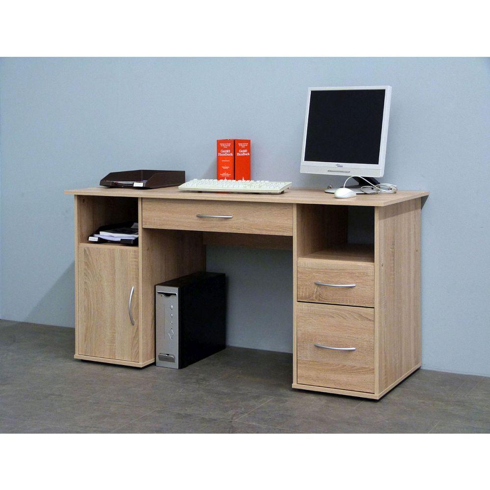 schreibtisch computertisch eiche s gerau neu ovp ebay. Black Bedroom Furniture Sets. Home Design Ideas