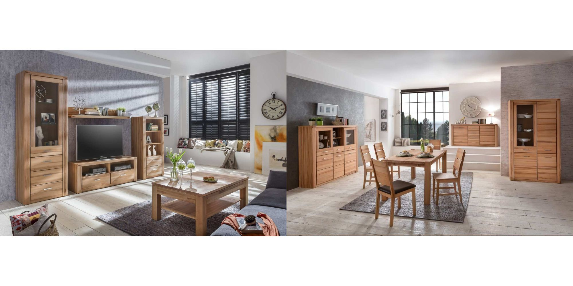 wohnwand anbauwand schrankwand lea kernbuche ge lt. Black Bedroom Furniture Sets. Home Design Ideas