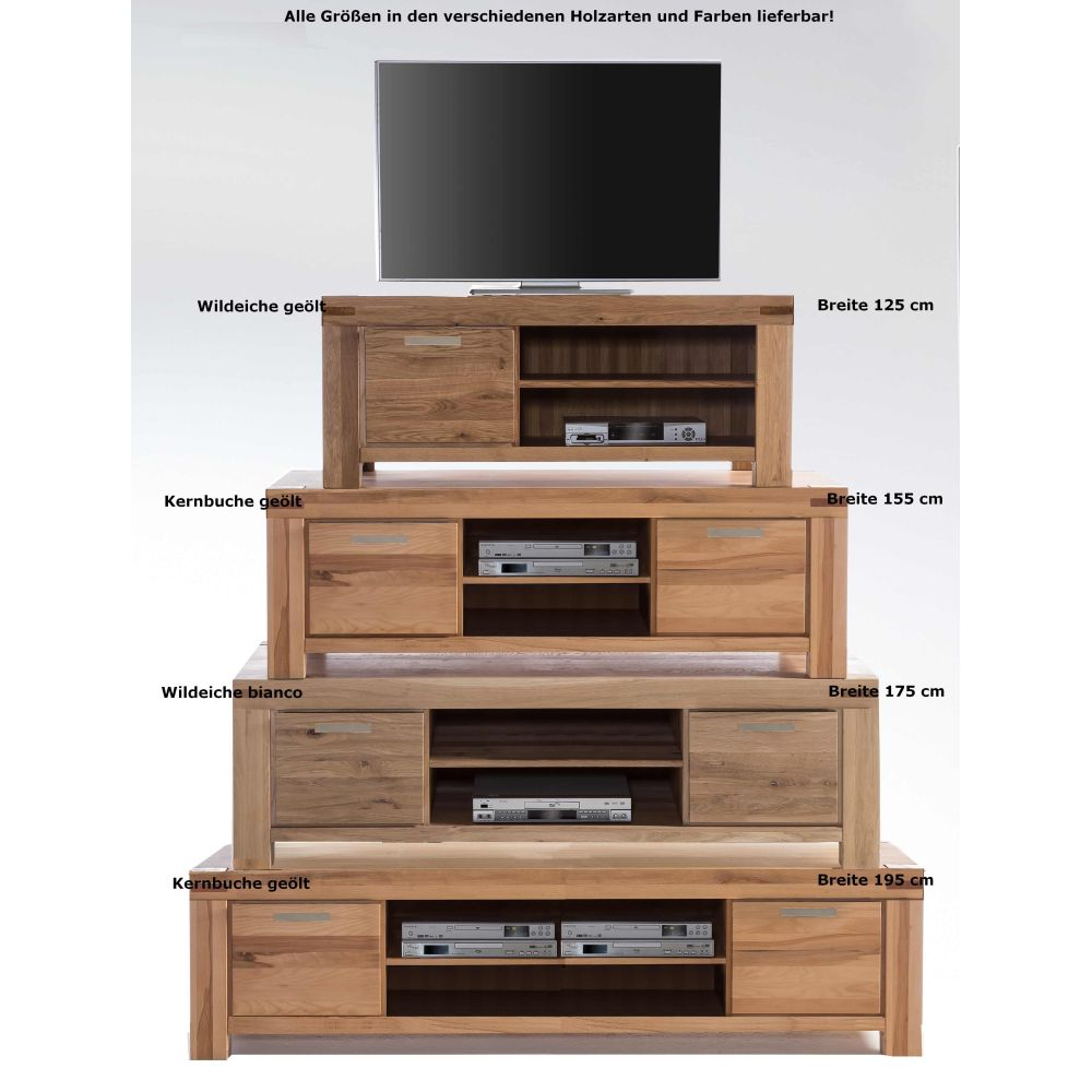 tv kommode lowboard lisa wildeiche bianco b 175cm neu ovp ebay. Black Bedroom Furniture Sets. Home Design Ideas