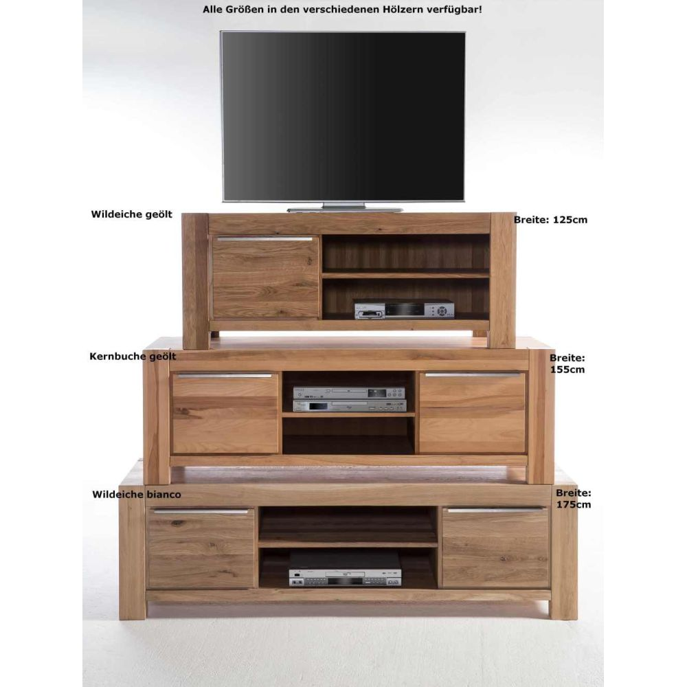 tv kommode lowboard sophia wildeiche massiv ge lt b155cm neu ovp ebay. Black Bedroom Furniture Sets. Home Design Ideas