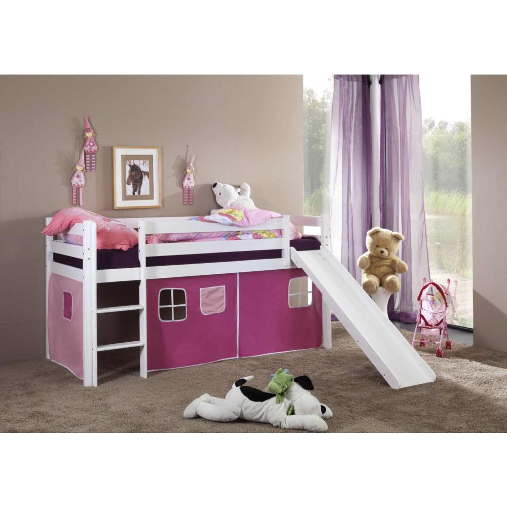 vorhangset turm f r spielbett hochbett etagenbett pink. Black Bedroom Furniture Sets. Home Design Ideas